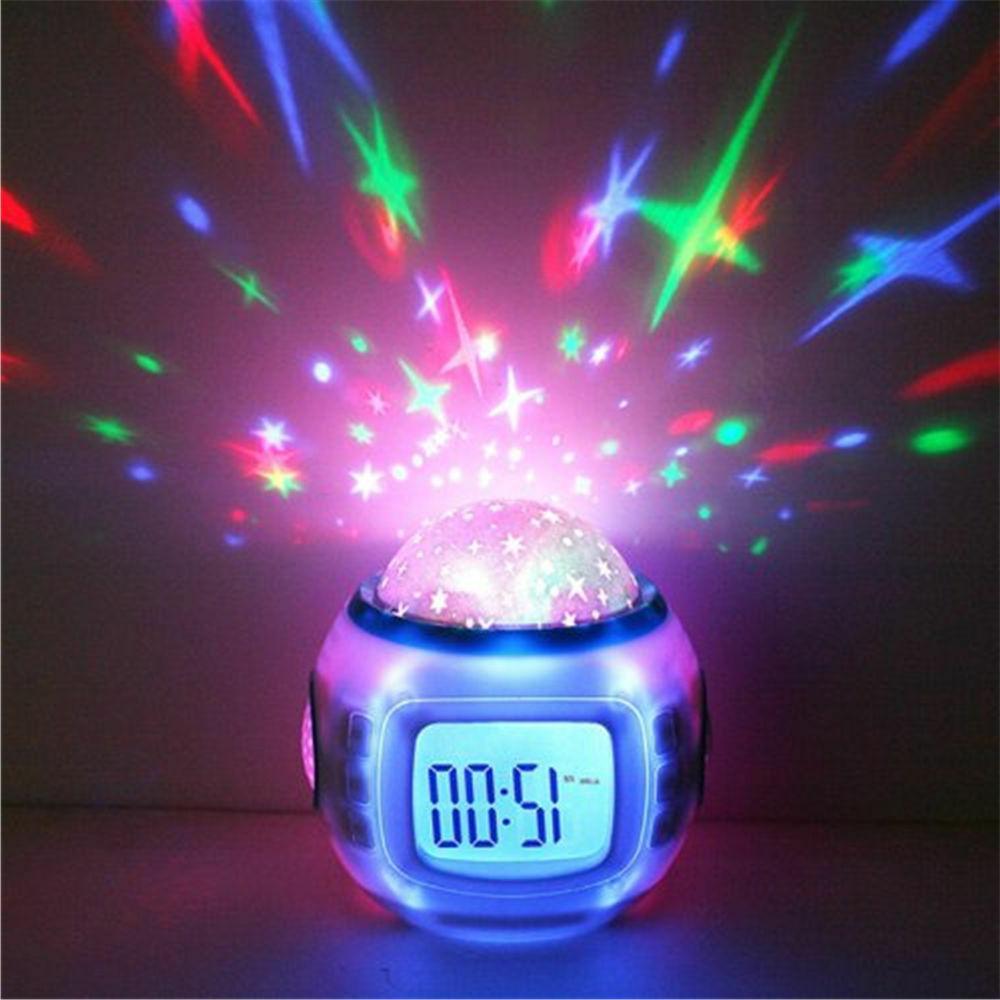 Kids LED Sky Projection Digital Alarm
