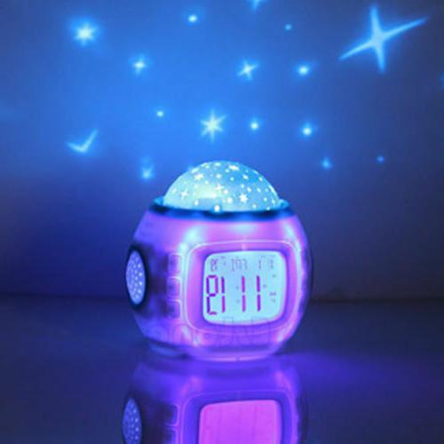 Kids Music Sky Lamp Alarm Clock