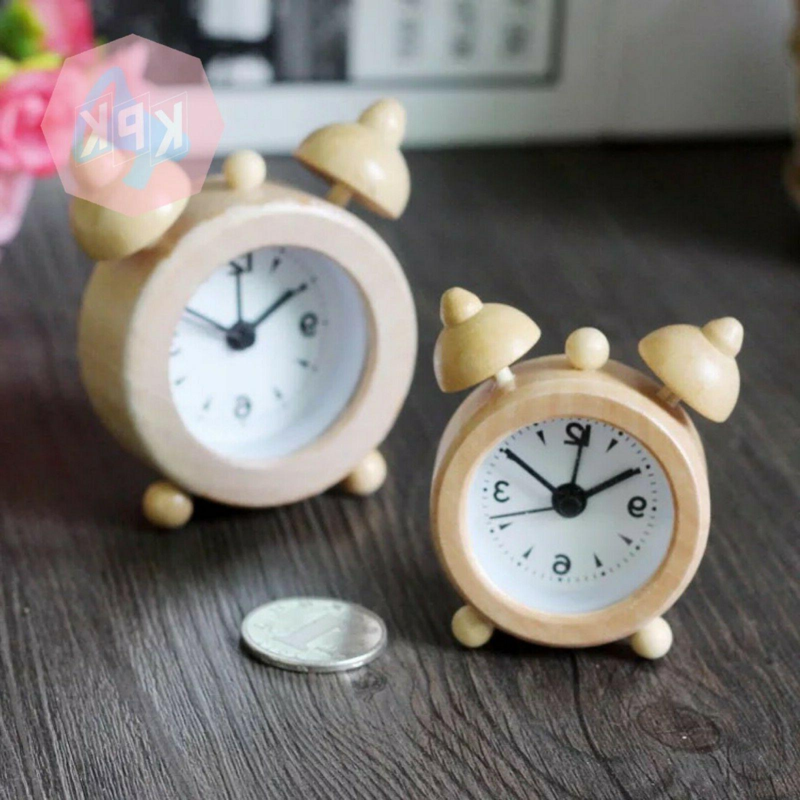 kpkshop wooden alarm clock light brown kids