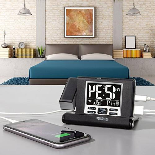 La Crosse Technology Travel Alarm with Fold-Out