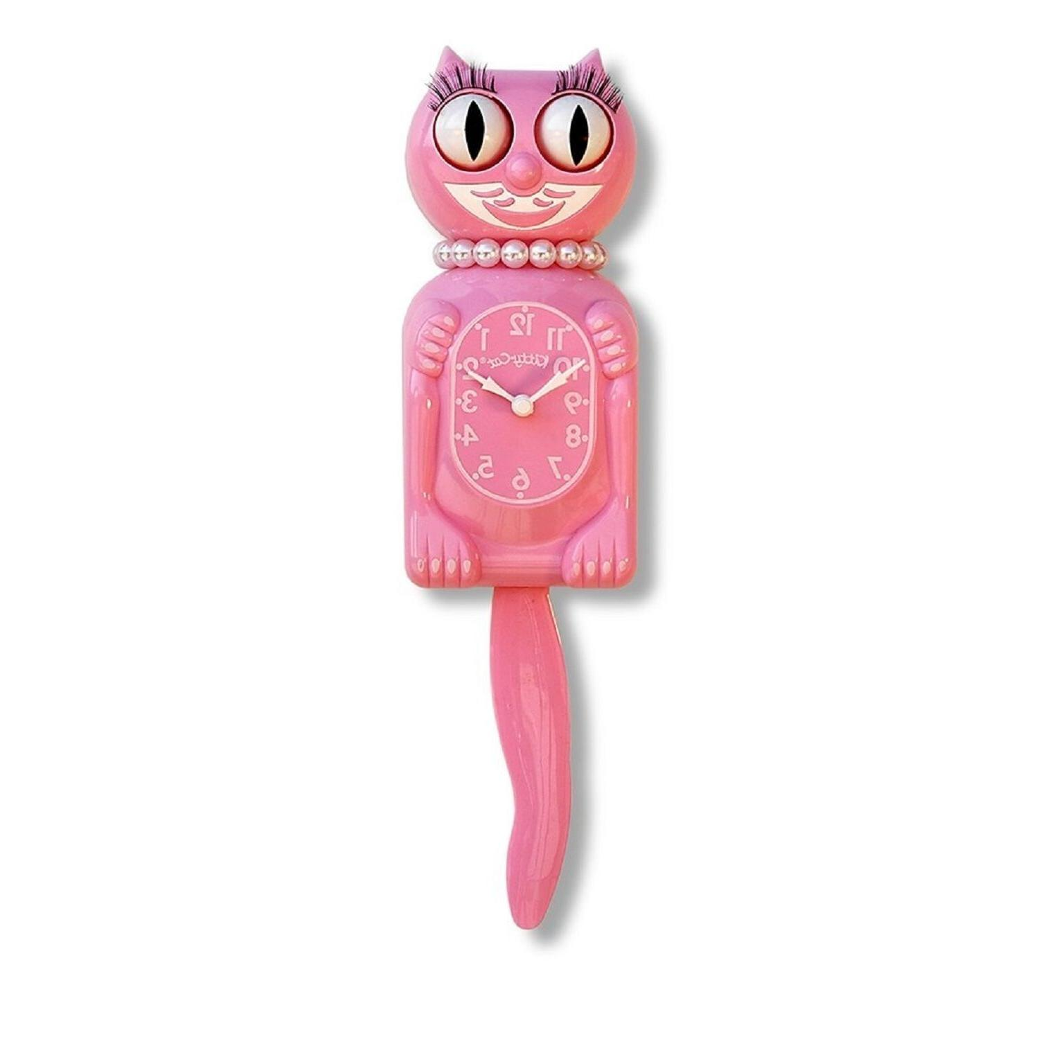 Kit-Cat Klock The Original Lady Kit-Cat, Honeysuckle Pink, 1