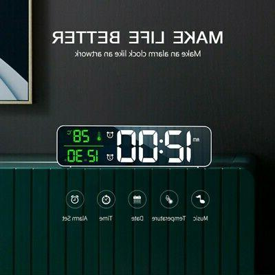 Large Alarm LED Battery Operated Mirror