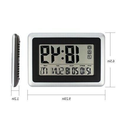 Large Digital Wall Clock,Silent Desk Battery B8W7