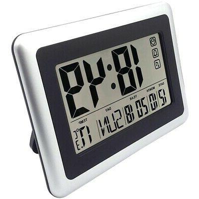large display digital wall clock silent desk