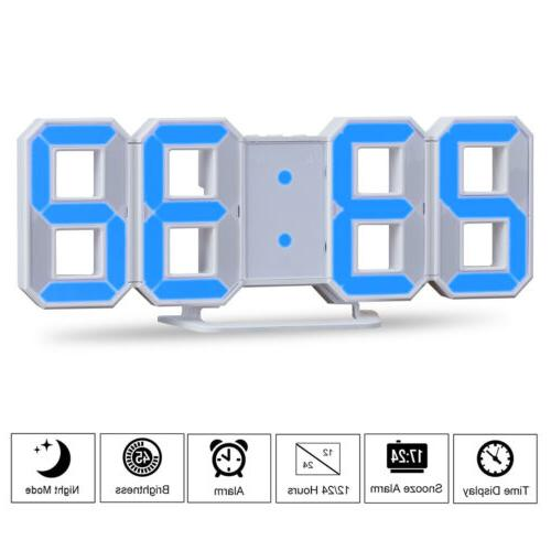 Large LED Clock Desk Snooze USB