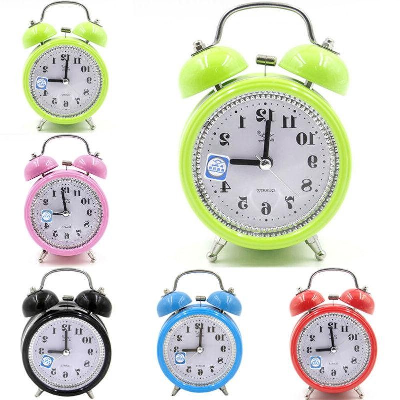 classic loud twin bell alarm clock quartz