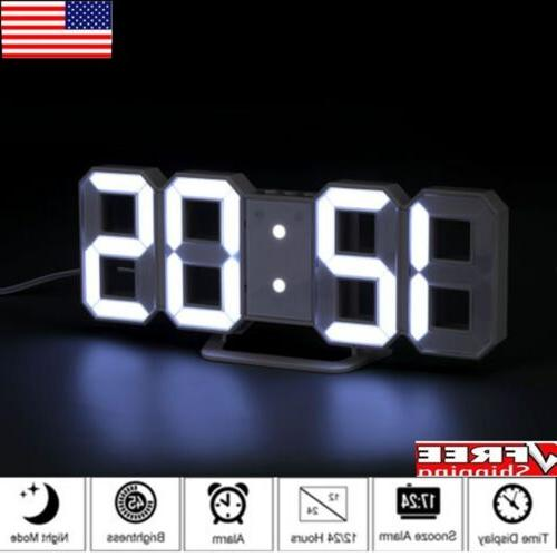 led digit table alarm clock large 3d