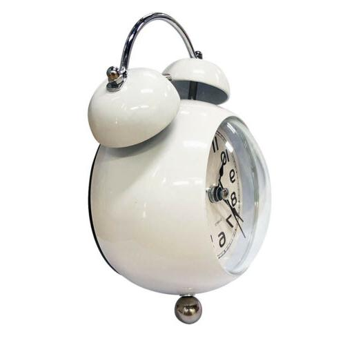 3 inch alarm double bell mute with night light
