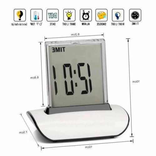 LED Digital Clock Changing LCD Desk Bed