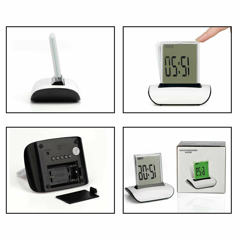LED Digital Alarm Changing Thermometer Desk Bed Light 7 Colors
