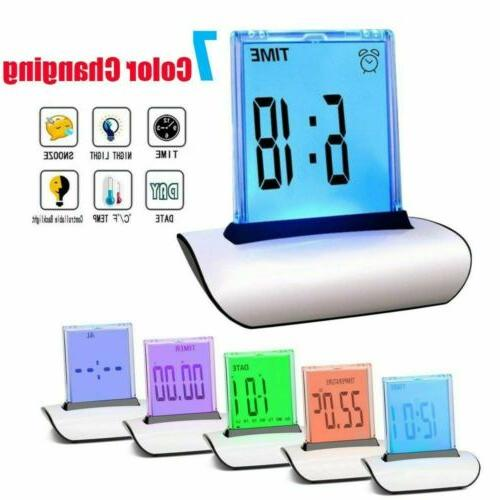 LED Alarm Changing Thermometer LCD Bed