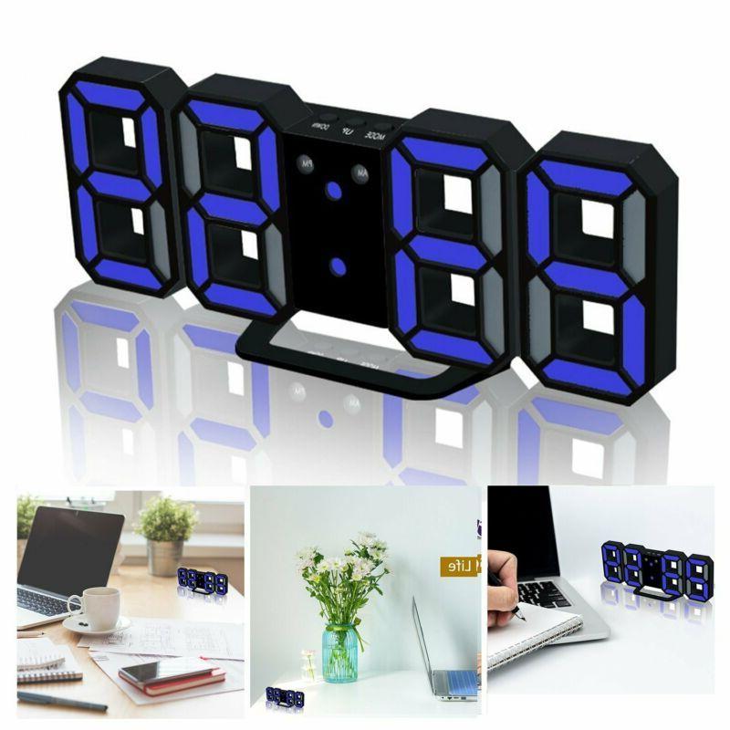 LED Digital Clock For Desk Shelf / Tabletop, Decoration 3D