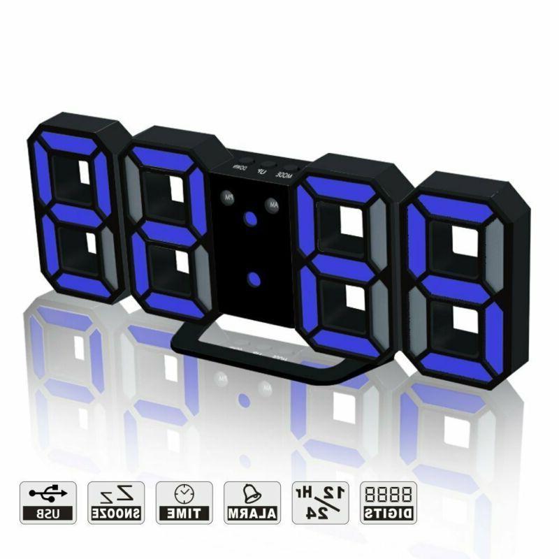 led digital alarm clock for desk shelf