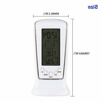 Electronic LED Clock Blue Thermometer Display Mirror
