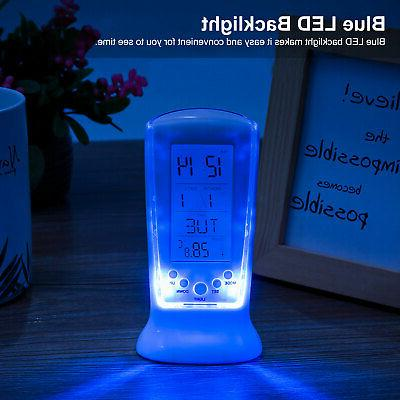 Electronic Clock Light Thermometer Display Lamp US