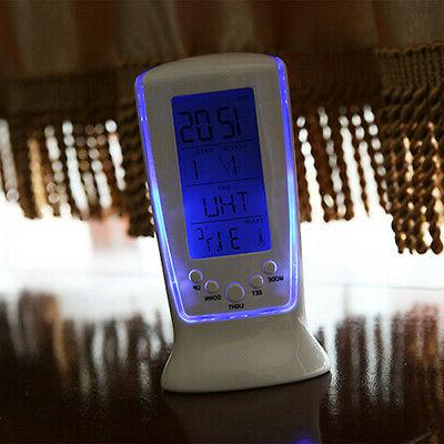Table Alarm Clock Digital Backlight Thermometer USA
