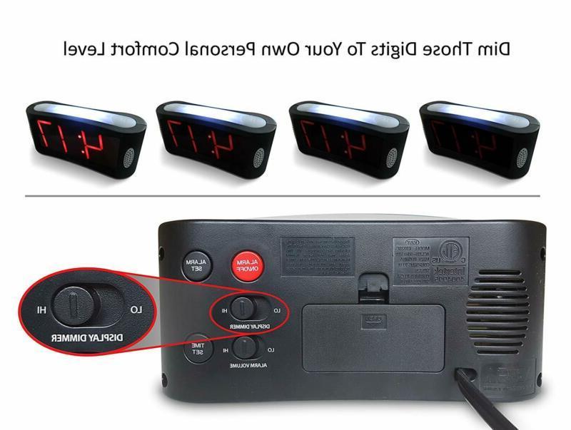 Travelwey LED Digital Clock - No Frills Operation,
