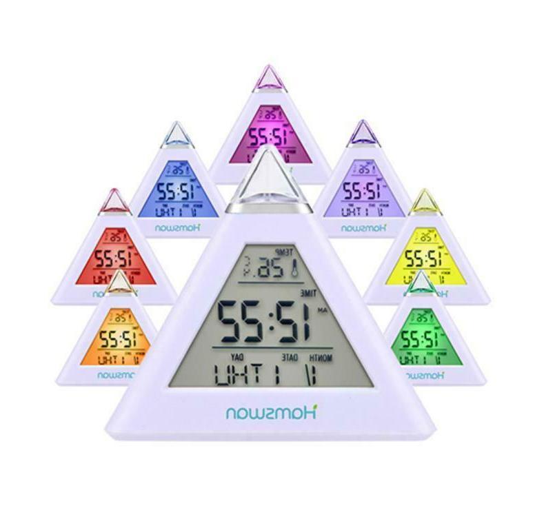 led digital alarm clock snooze calendar thermometer