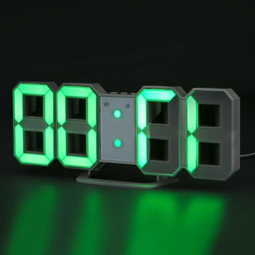 Large Digital Clock Snooze Timer USB