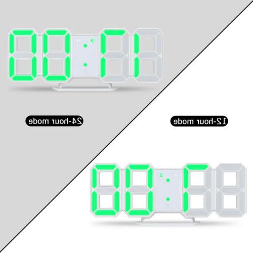 Large Digital Alarm Clock Desk Snooze Timer USB 12/24H