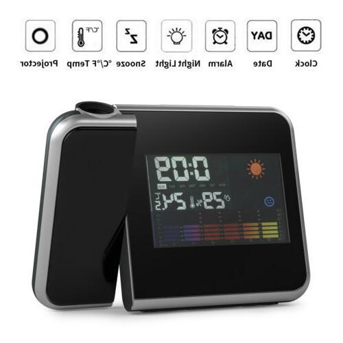 led digital projection alarm clock radio weather