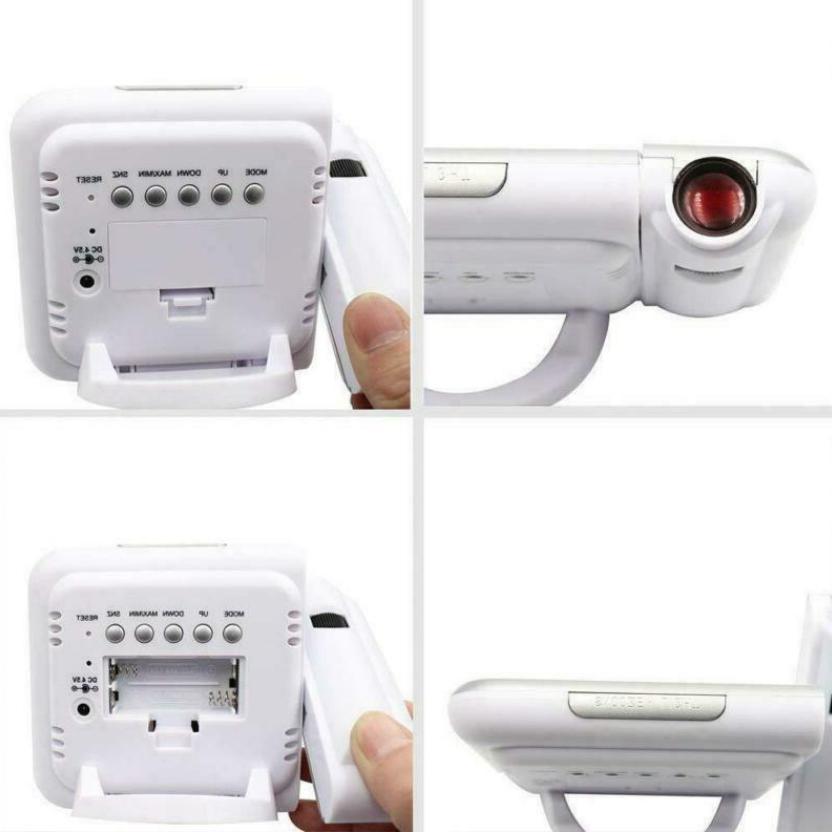 LED Digital Alarm Clock Station with Temperature