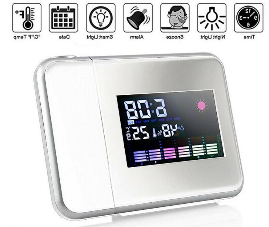 LED Digital Clock Weather Station with Temperature