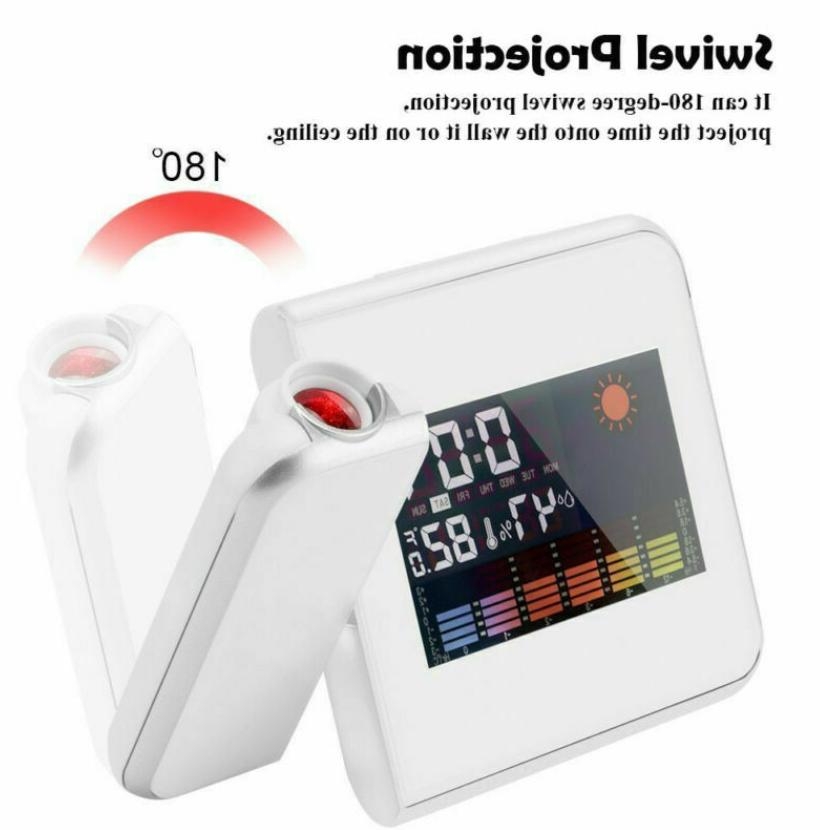 LED Projection Clock Temperature Humidity