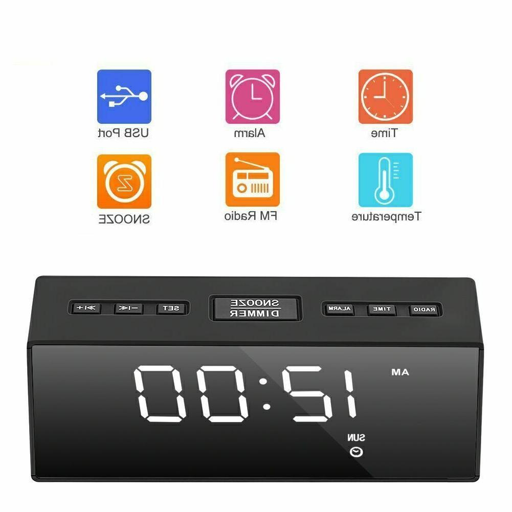 USB Clock FM Ornaments Portable Battery Operated