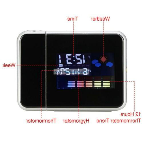 LED Display Digital Alarm Snooze Weather