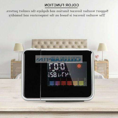 LED LCD Display Digital Alarm Time Clock Snooze Thermometer