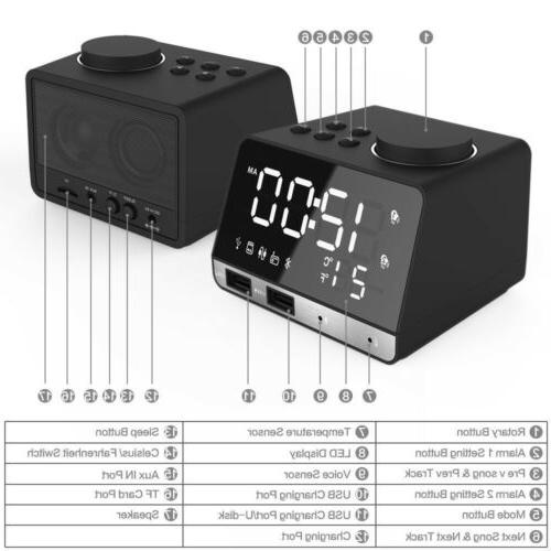 LED Alarm with Charging Port