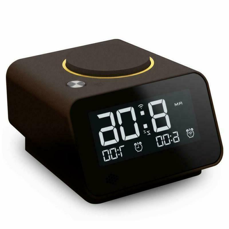 LED Wireless Bluetooth Speaker Alarm Clock FM Radio with Dua