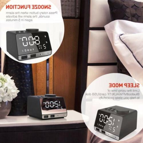 LED Alarm FM Radio with Dual Port