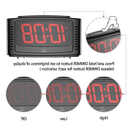 DreamSky Clock with Clear Led with Dimmer, Operate, for