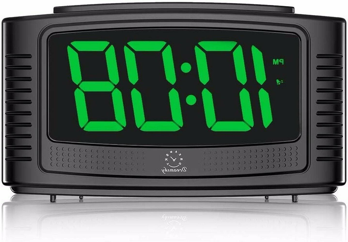 little digital alarm clock with snooze clear