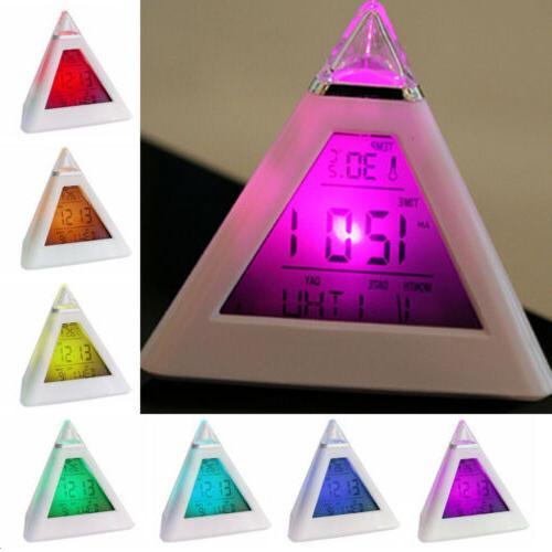 Lot 7 Color Temperature Digital Alarm Clock Kids Boy Girl
