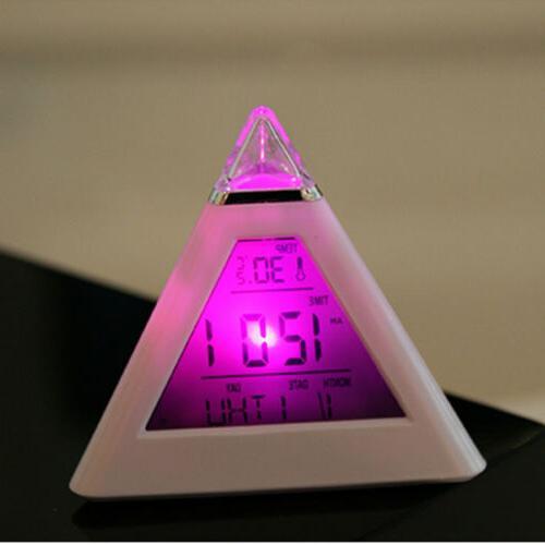 lot 7 color pyramid temperature digital snooze