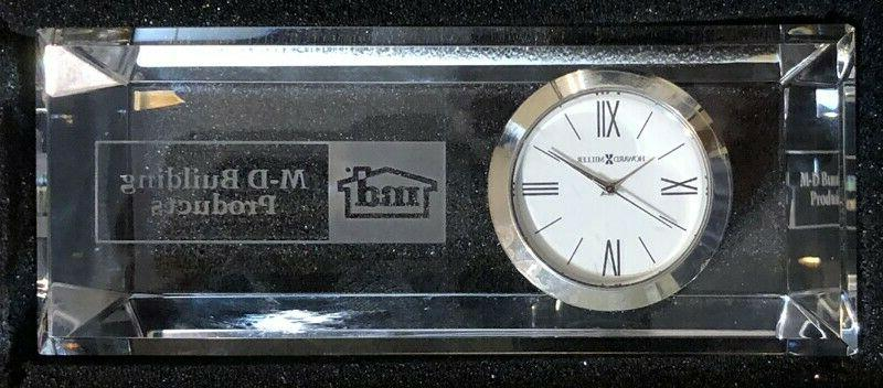 """M-D Prism Crystal Clock Miller,Size 1.25"""""""