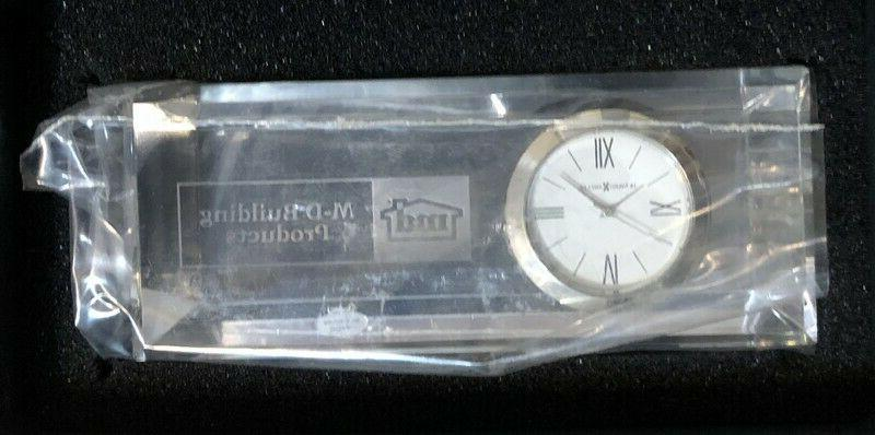 """M-D Products Crystal Clock by Miller,Size x2"""" x 1.25"""""""