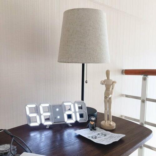 Modern Wall Alarm Clock Snooze Display USB