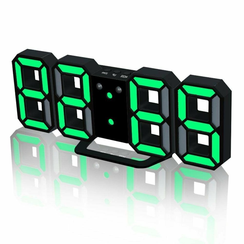 modern electronic led digital alarm clock auto