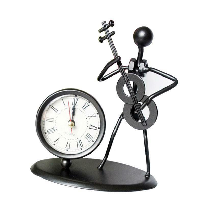 modern iron man instrument cube clock watch