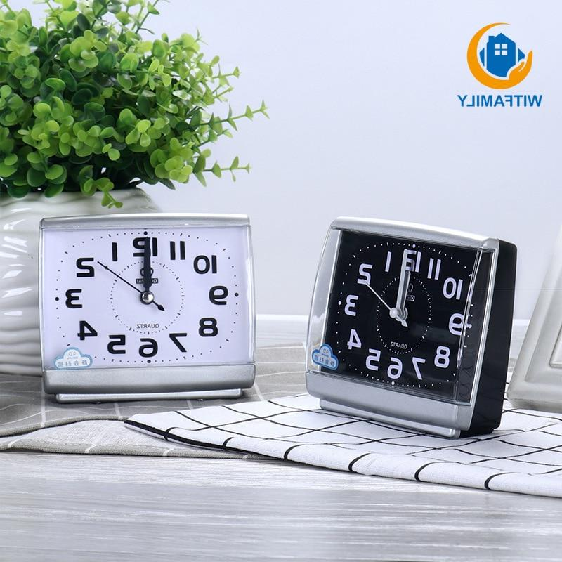 Modern <font><b>Bedroom</b></font> Desktop Bed Plastic Sweeping table <font><b>Clock</b></font>