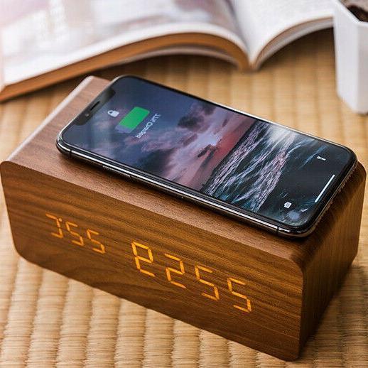 modern wooden 15 w digital led desk