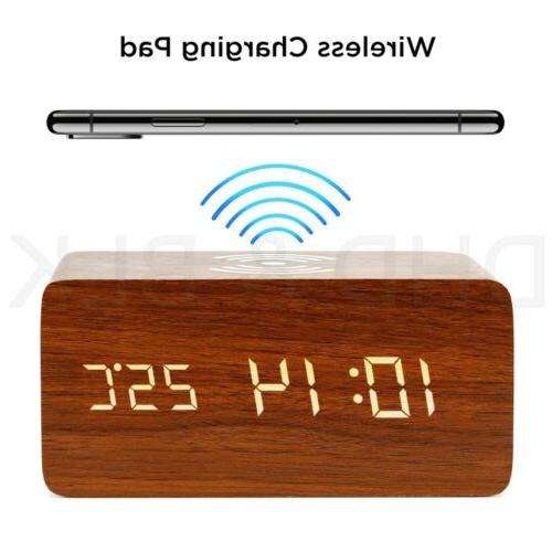 Modern Digital LED Thermometer Qi Wireless Charger