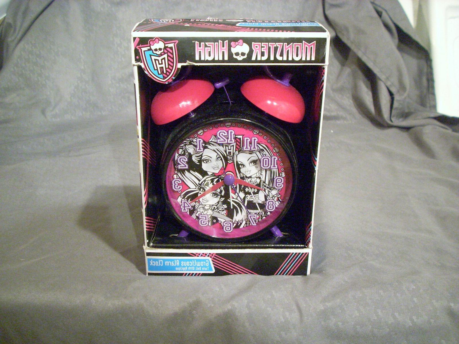 monster high twin bell alarm clock cheap