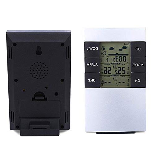 MTOFAGF TS 433MHz Weather Station Alarm Thermometer Hygrometer You