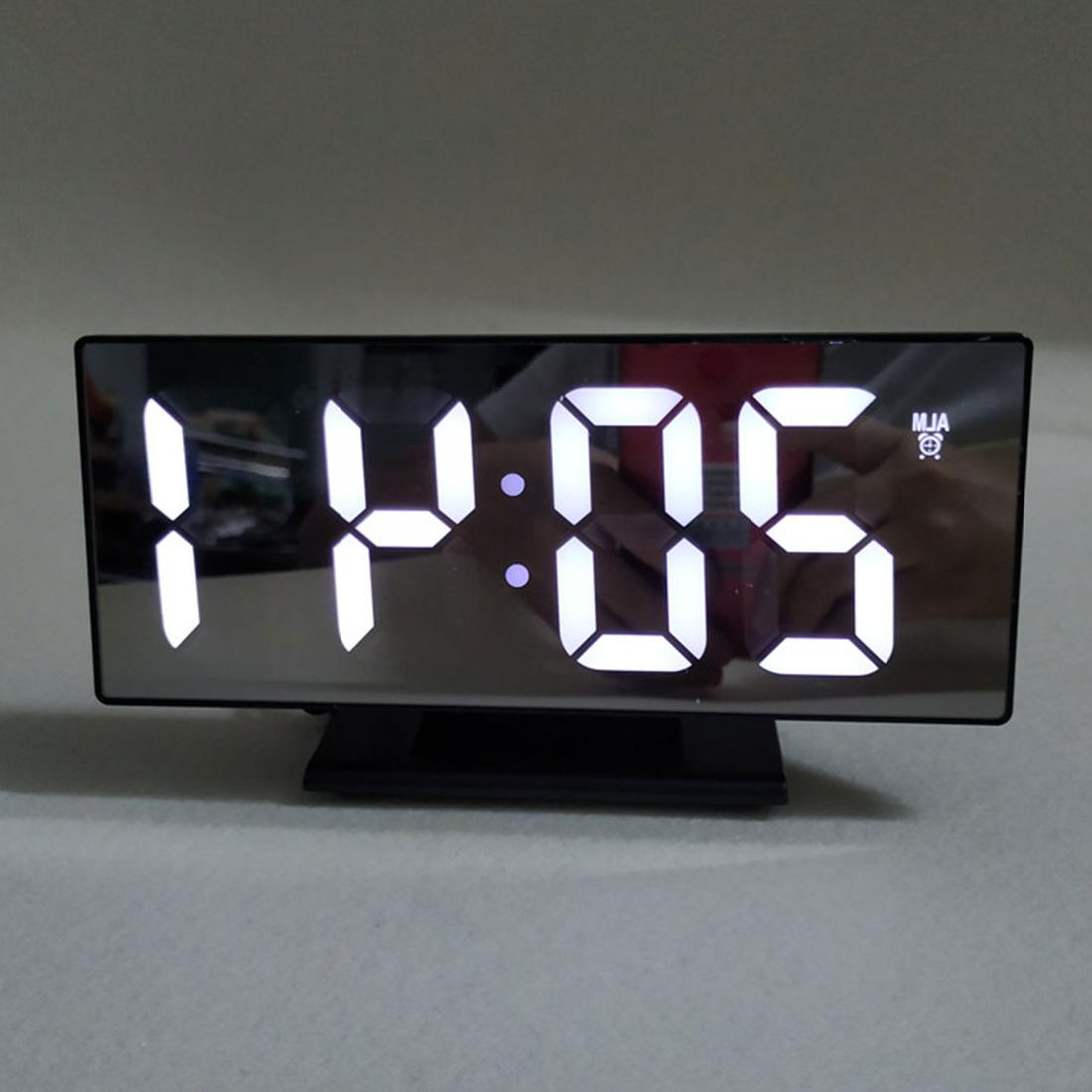 Multifunction LED Display <font><b>Clock</b></font> Snooze Table Desktop <font><b>USB</b></font>