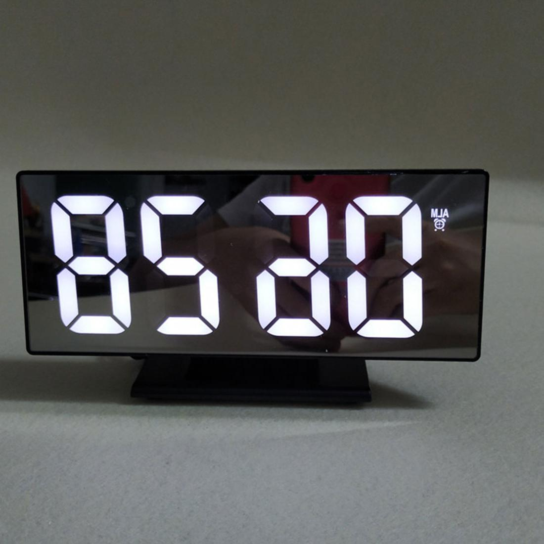 Multifunction Digital Alarm <font><b>Clock</b></font> LED Display Mirror Desktop reloj <font><b>USB</b></font>
